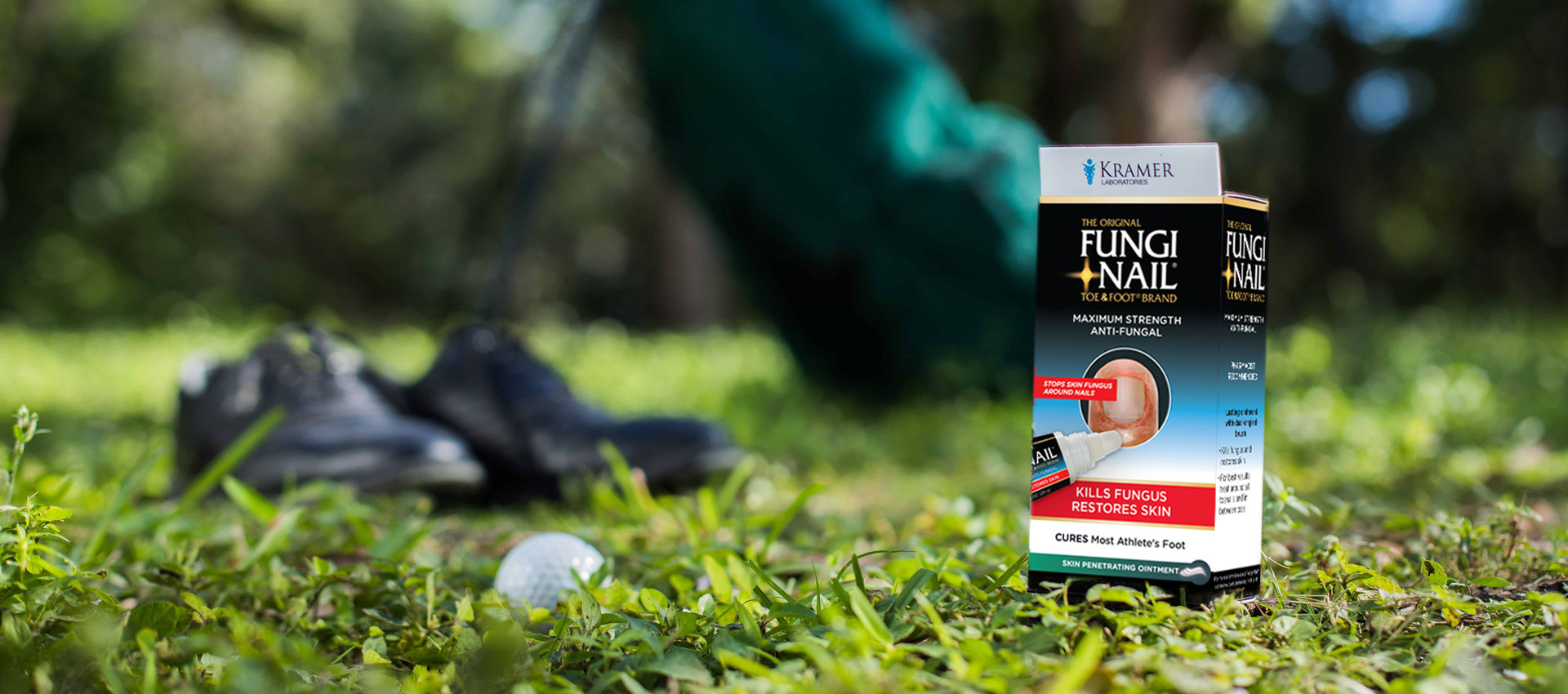 Fungi Nail Athlete's Foot Treatment with Golf Shoes